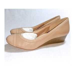COLE HAAN Elsie Cap Toe Wedge Shoes 10 NWOB